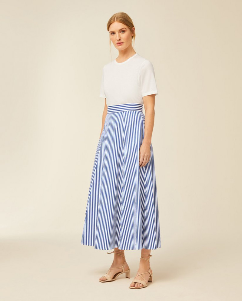 long striped skirt ivy and oak kleid