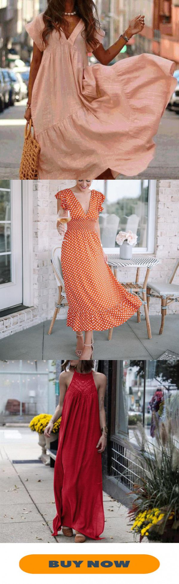 loose solid color dress fashion, daily dress, clothes floridays kleider