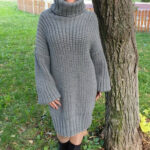 Made To Order Gray Long Mohair Dress,pullover, Sweater, Jersey Rollkragenpullover Kleid
