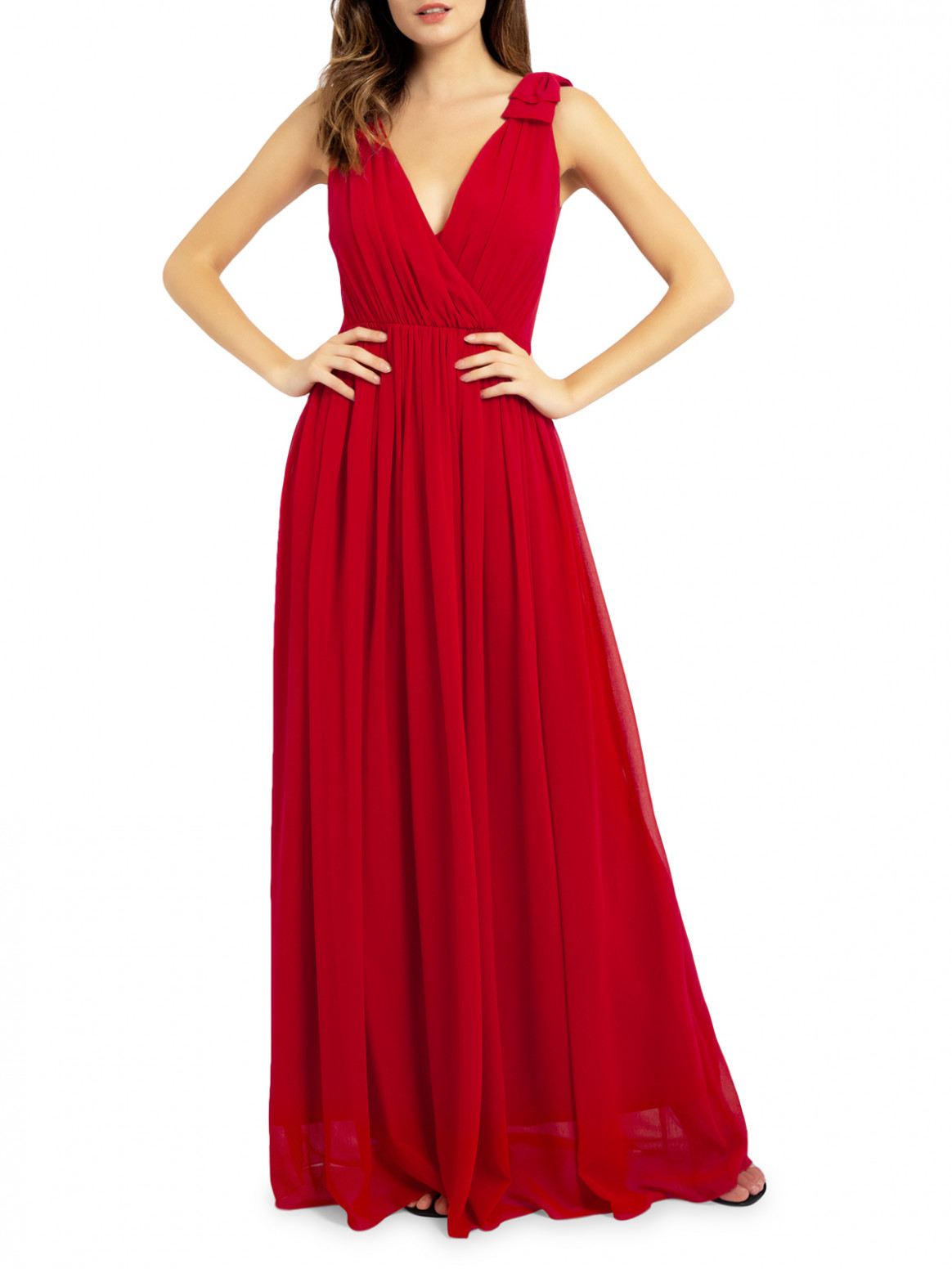 maxi dress maxikleid rot
