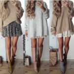 Modehivernale In 8 Winter Fashion Outfits, Sweater Over Dress Strickkleid Winter