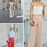 Outfit Fuer Hochzeitsgaeste Lange Hose Top Spaghetti Hohe Taille Outfit Taufe Gast Frau
