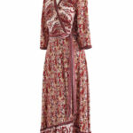 Paisley World Boho Wickel Maxikleid In Rot Maxikleid Rot