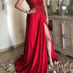 Pin Auf Formal Dresses Red Lace Products Abendkleid Rot Lang