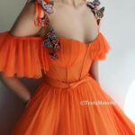 Pin On Dresses Orangenes Kleid