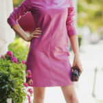 Pink Leather Dress By Adamofur #inspiration #leather #leatherdress Pink Kleidung
