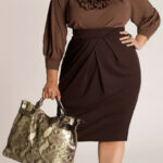 Plus Ruffle Dress, Great For Work