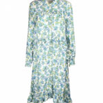 Rich & Royal Summer Dress Floral Ladies Blouse Dress In Midi Length White Blue Outlet8