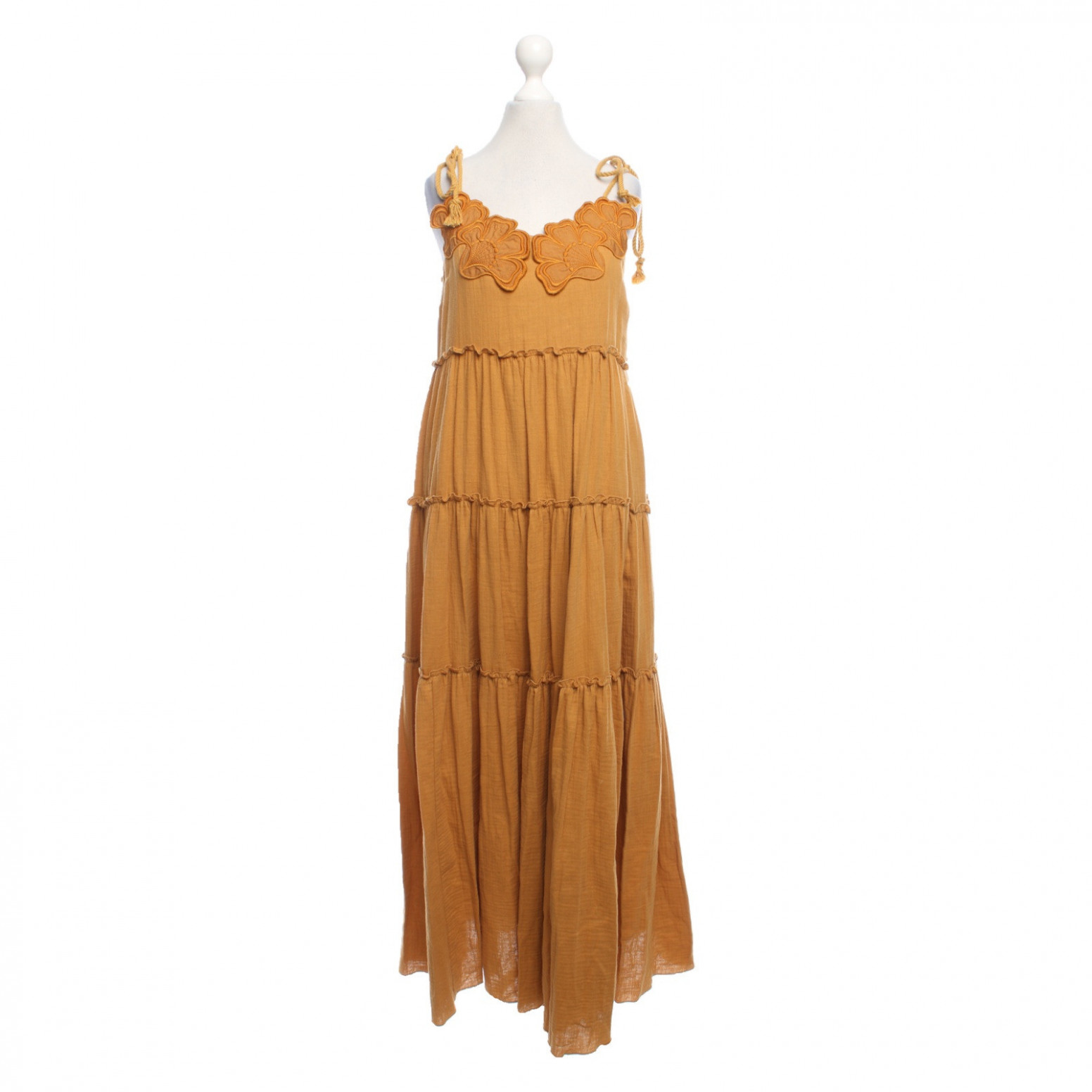 see by chloé dress cotton in ochre second hand see by chloé see by chloe kleid