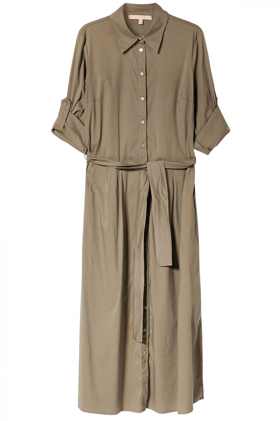 shirt dress with tie belt hemdblusenkleid lang