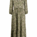 Shop Green Luisa Cerano Floral Print Dress With Express Delivery Luisa Cerano Kleid