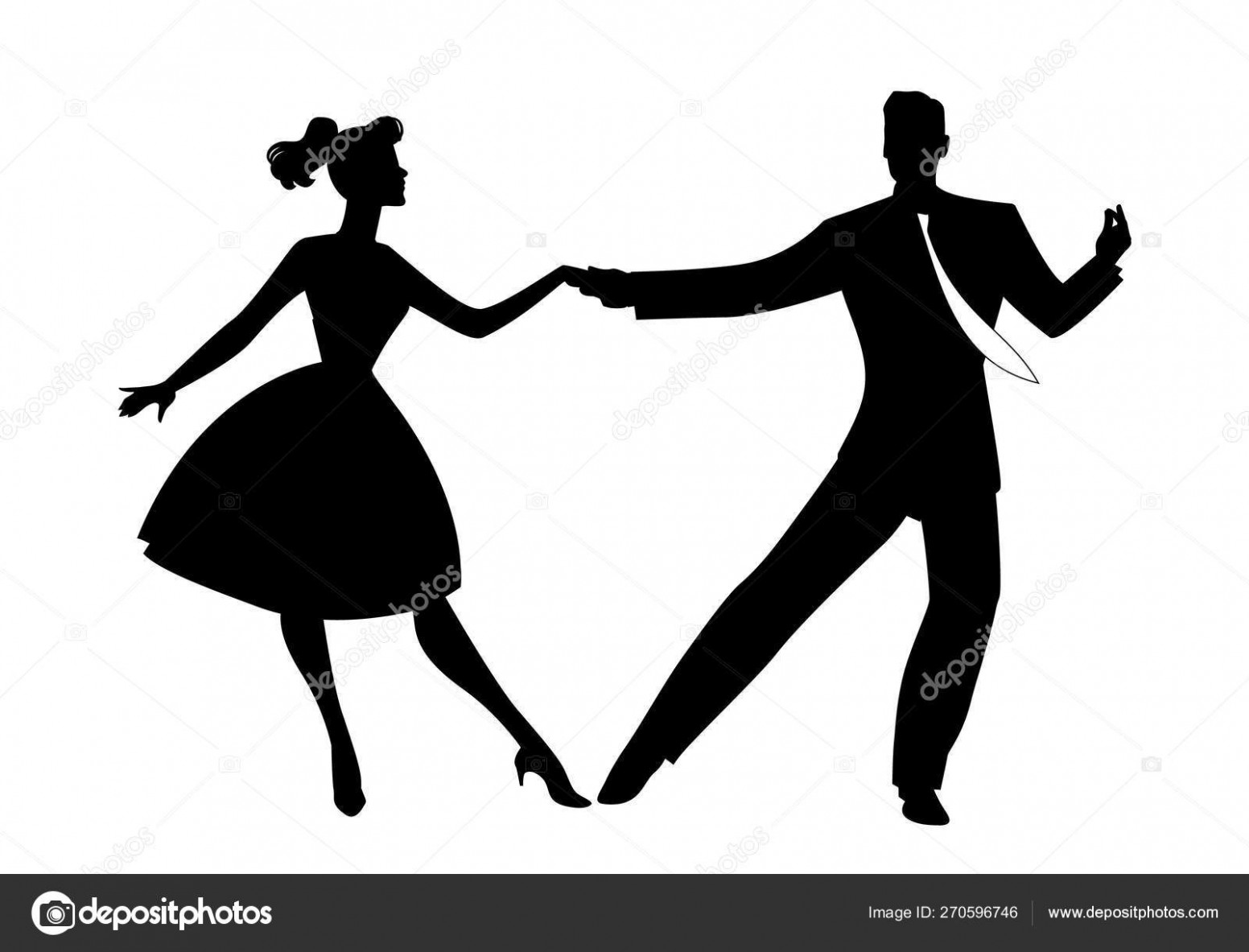silhouette of couple wearing retro clothes dancing rock, rockabilly, swing or lindy hop isolated on whihte background 8 lindy hop kleidung