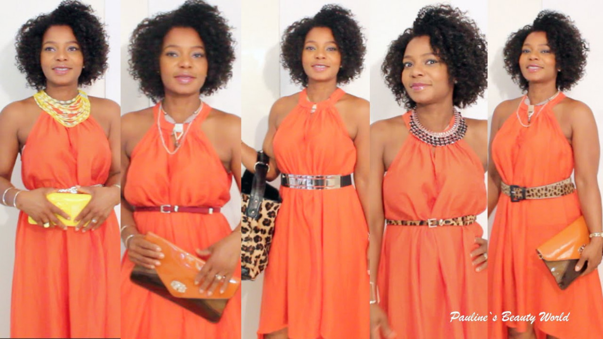 styling tipps: 12 ways to accessorize an orange dress / orangenes kleid ⎮ pauline walter orangenes kleid