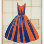 Ulla Von Brandenburg, Blau Orangenes Kleid [blue Orange Dress Orangenes Kleid