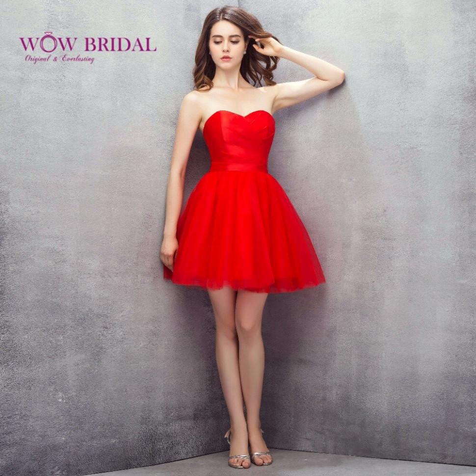 Wowbridal Rot Kurz Tüll Homecoming Kleider 9 Neue Junior High 9th Grade  Graduation Kleider Fluffy Liebsten Kurz Kleid